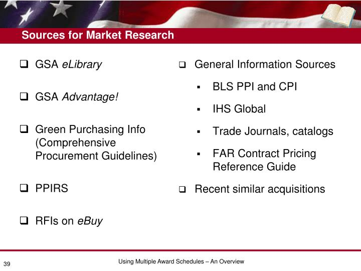 Sources for Market Research