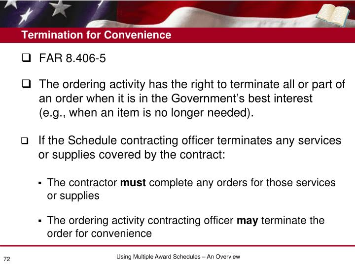 Termination for Convenience
