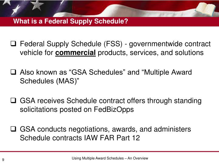 What is a Federal Supply Schedule?