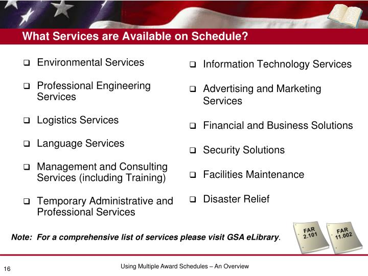 What Services are Available on Schedule?