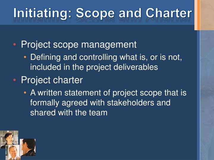 Initiating: Scope and Charter