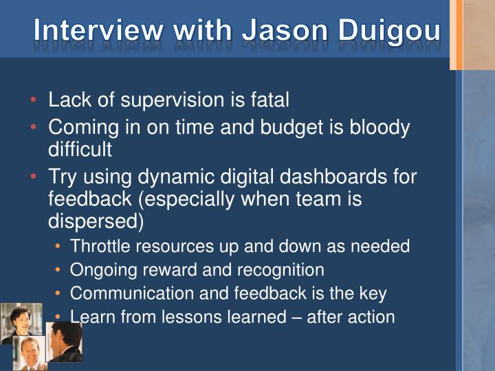 Interview with Jason