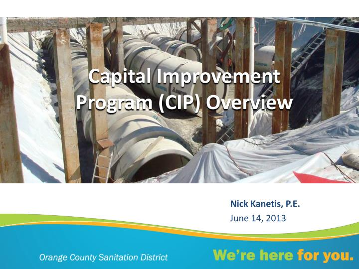 Capital improvement program cip overview
