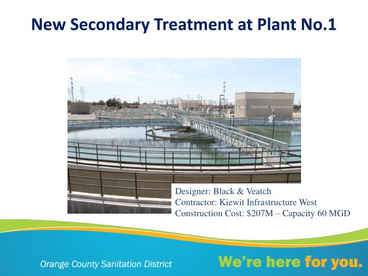 New Secondary Treatment at Plant No.1