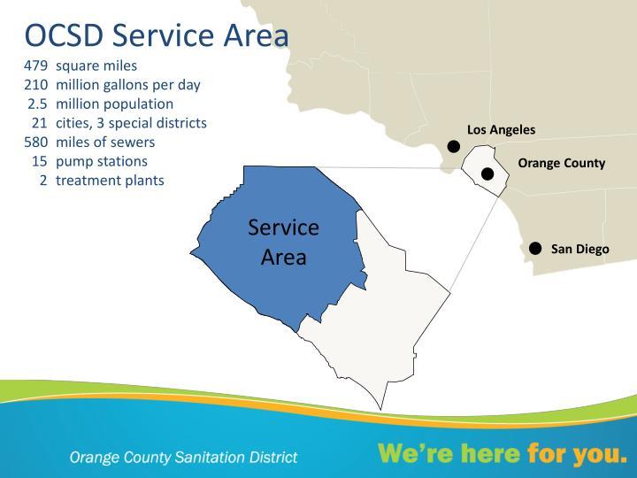 OCSD Service Area