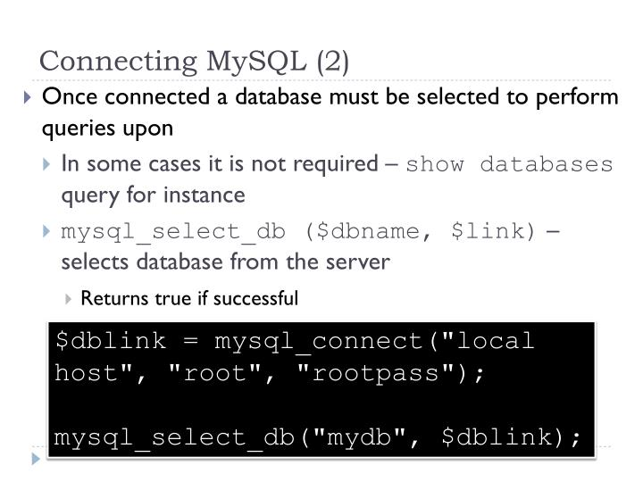 Connecting MySQL (2)