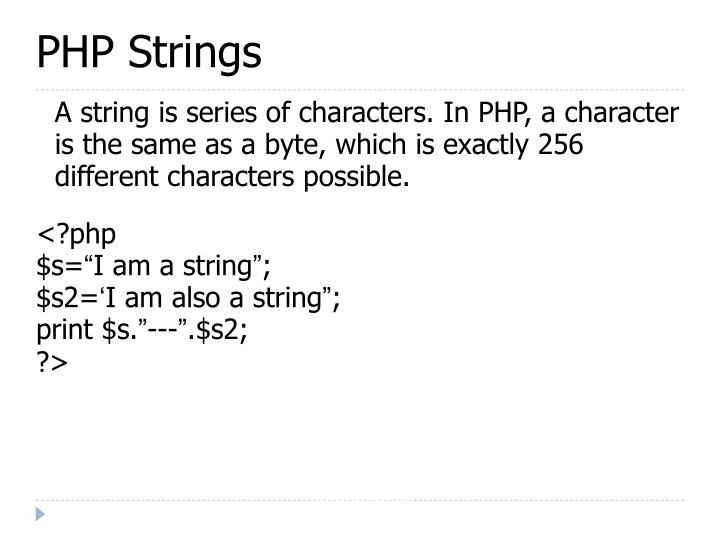 PHP Strings