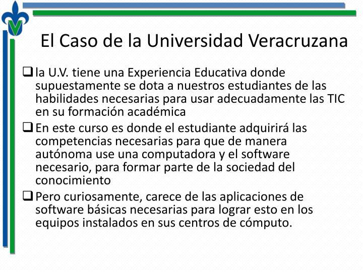 El Caso de la Universidad Veracruzana