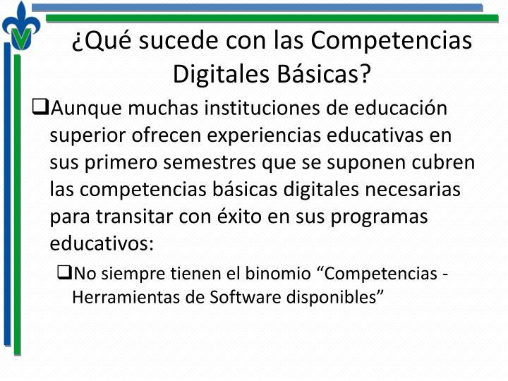 ¿Qué sucede con las Competencias Digitales Básicas?