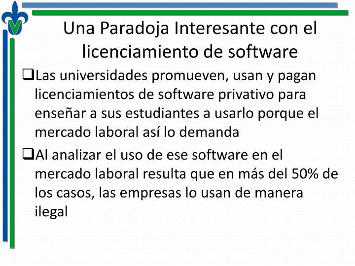Una Paradoja Interesante con el licenciamiento de software