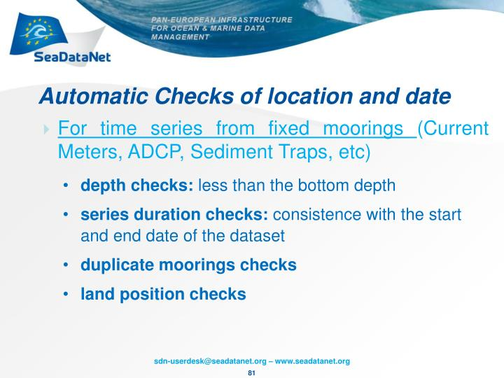 Automatic Checks of location and date