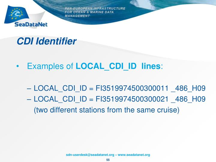 CDI Identifier