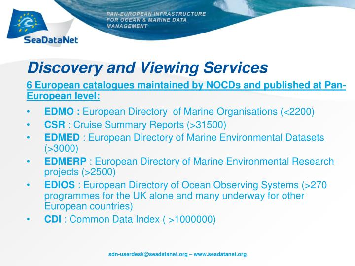 Discovery and Viewing Services