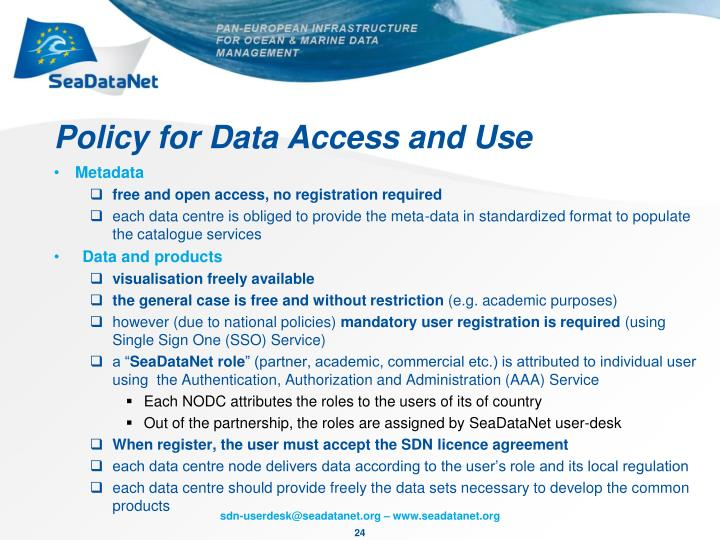 Policy for Data Access and Use