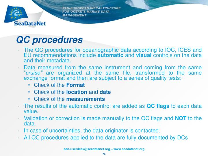 QC procedures