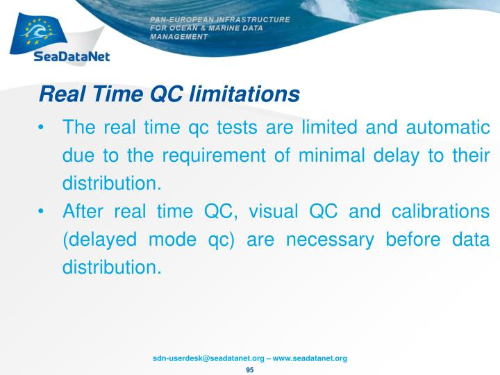 Real Time QC limitations