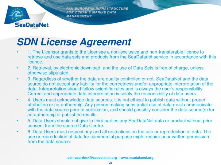 SDN License Agreement