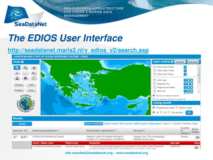 The EDIOS User Interface
