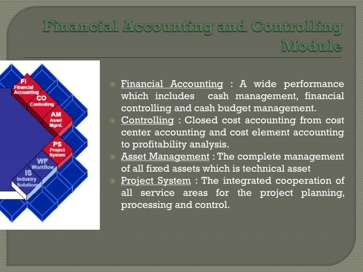 Financial Accounting and Controlling Module
