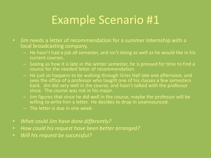 Example Scenario #1