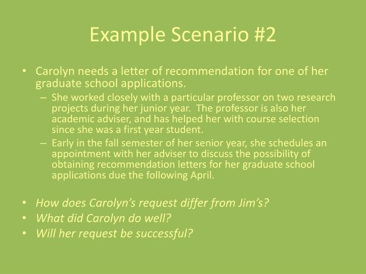 Example Scenario #2