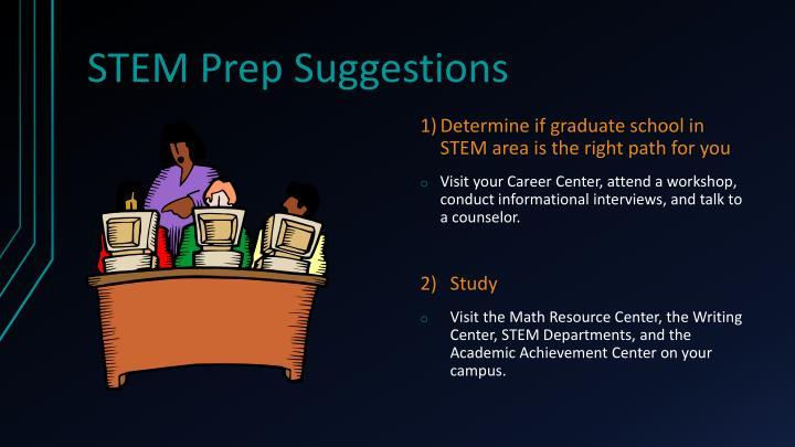 STEM Prep Suggestions