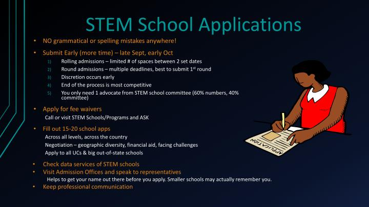 STEM School Applications