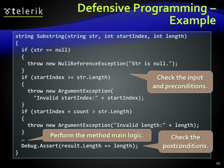 Defensive Programming – Example