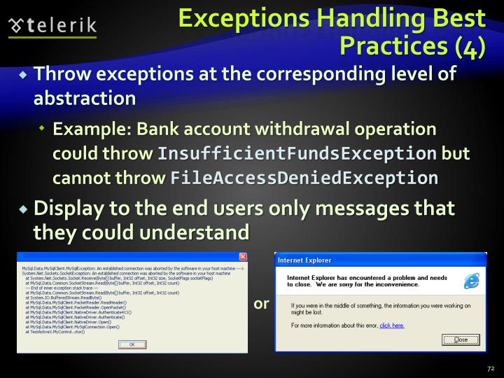 Exceptions Handling Best Practices (4)