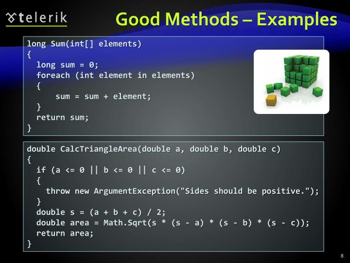 Good Methods – Examples