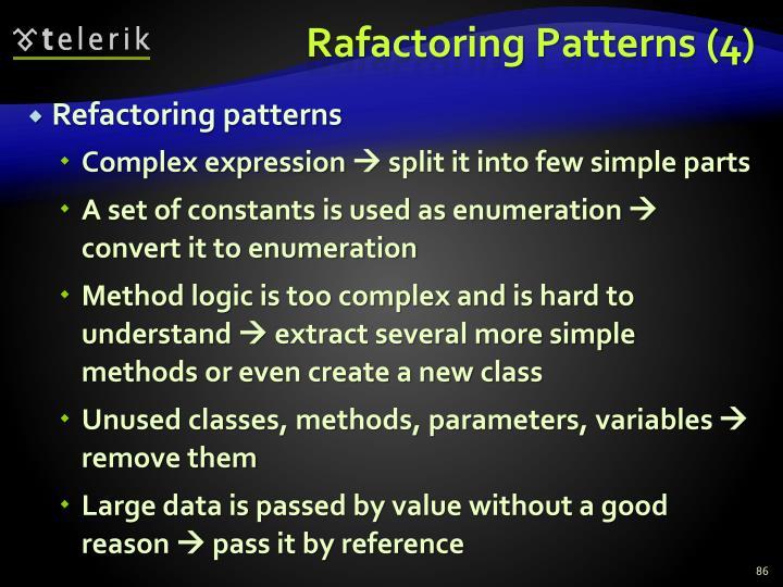 Rafactoring Patterns (4)