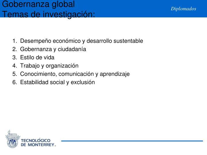 Desempeño económico y desarrollo sustentable