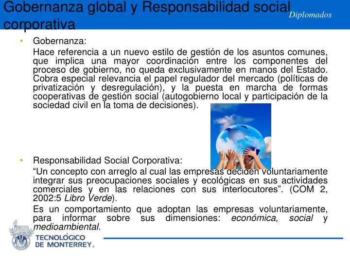Gobernanza global y Responsabilidad social corporativa