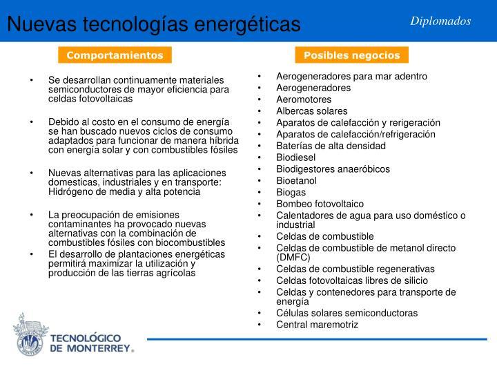 Se desarrollan continuamente materiales semiconductores de mayor eficiencia para celdas fotovoltaicas