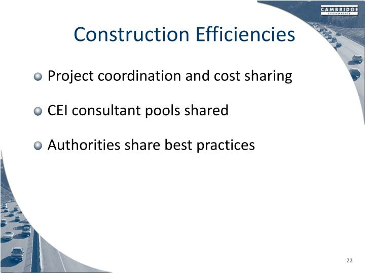 Construction Efficiencies