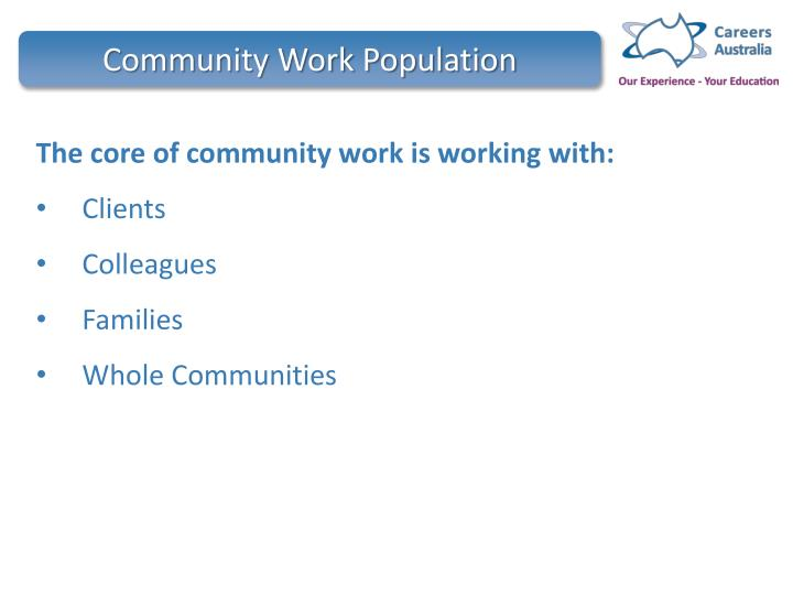 Community work population