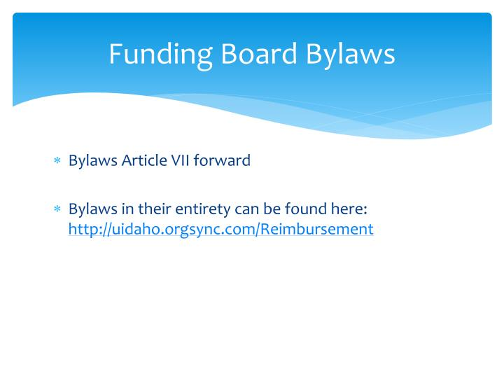 Funding Board Bylaws