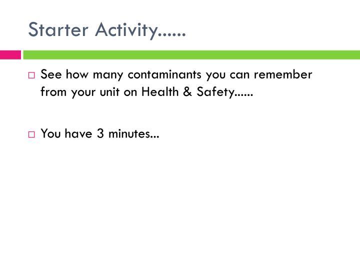 Starter Activity......