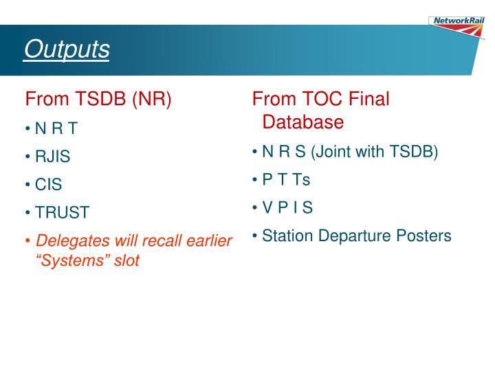 From TSDB (NR)