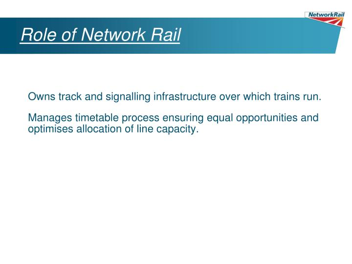 Role of Network Rail