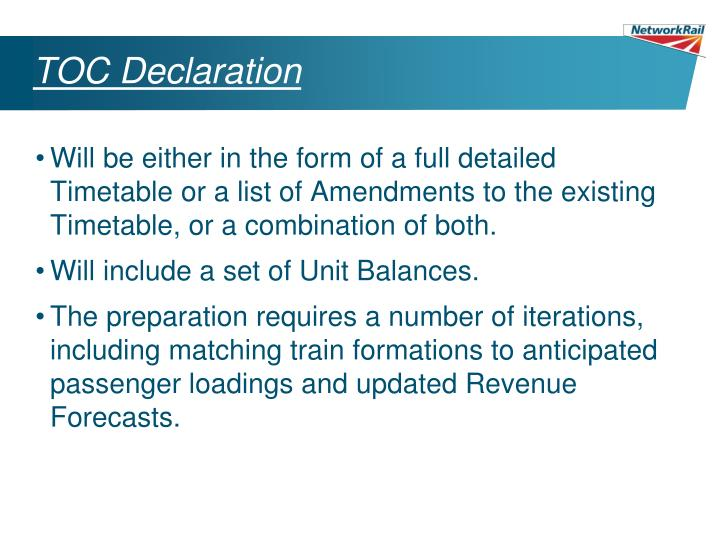 TOC Declaration