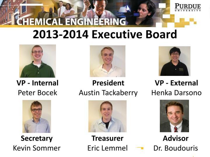 2013-2014 Executive Board