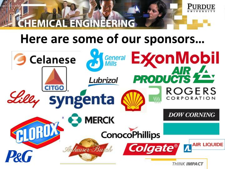 Here are some of our sponsors…