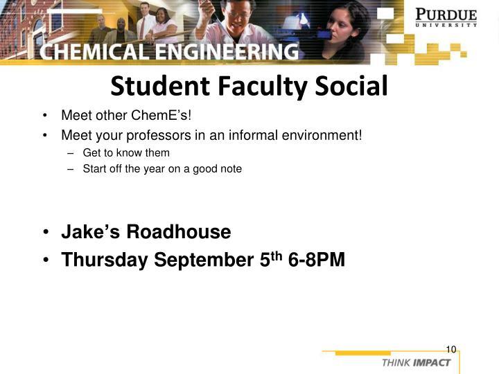 Student Faculty Social