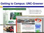 getting to campus unc greener