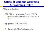 office of campus activities programs cap