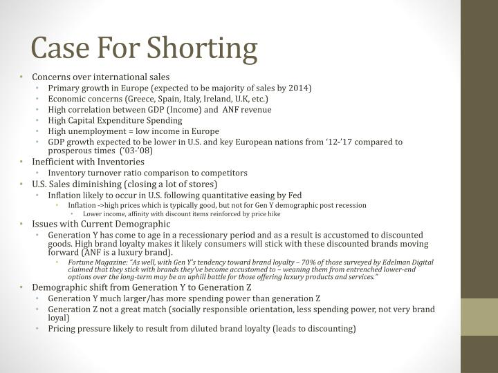 Case for shorting
