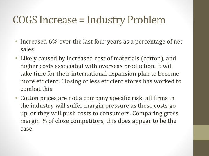 COGS Increase = Industry Problem