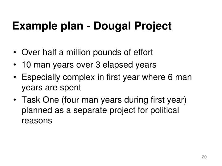 Example plan - Dougal Project