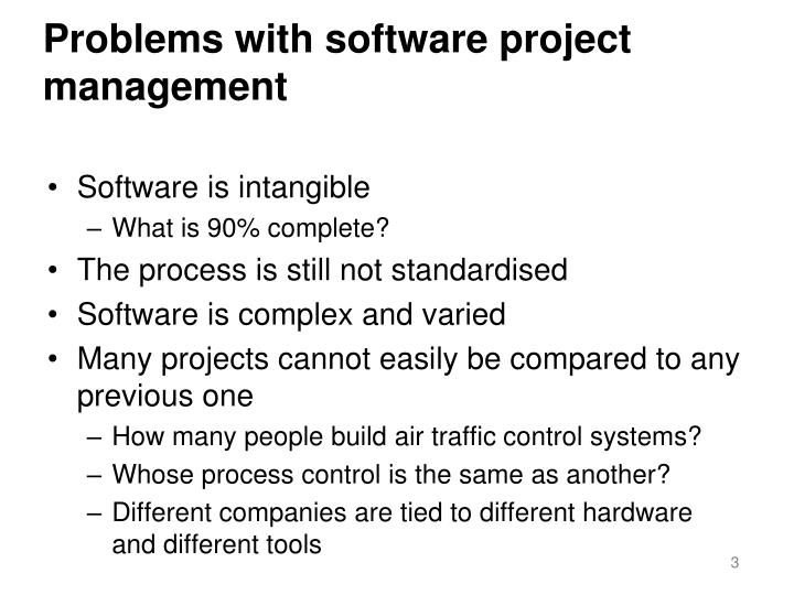 Problems with software project management